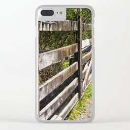 Wooden Farm Gate And Fence Clear iPhone Case