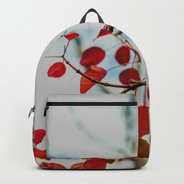 Red Leaves On Gentle Branches  Backpack