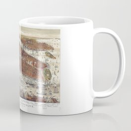 Aerial View of New York and Brooklyn, with Jersey City and Hoboken water front (1877) Coffee Mug