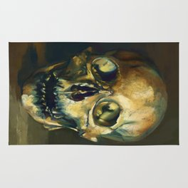 Human Skull Rug