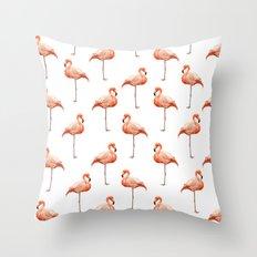 Flamingo Pattern Throw Pillow