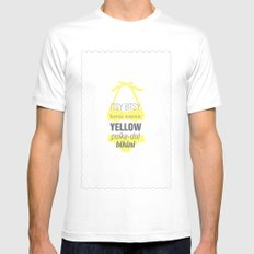 Yellow Polka Dot Bikini White MEDIUM Mens Fitted Tee