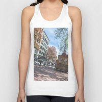 vancouver Tank Tops featuring Downtown Vancouver  by Jody_Waardenburg