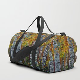 Aspen Trees by OLena Art Duffle Bag