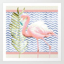 Flamingo Soiree Art Print