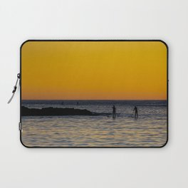 Paddleboarding  - Mackinzie Beach Yellow Sunset Laptop Sleeve
