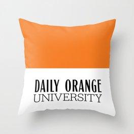 Daily Orange University Throw Pillow