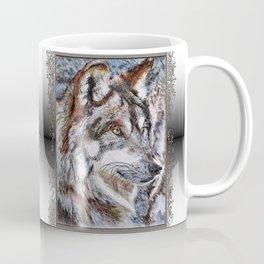 Gray Wolf Watches and Waits Coffee Mug