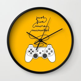 Five More Minutes Wall Clock
