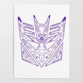 Decepticon Tech Purple Poster