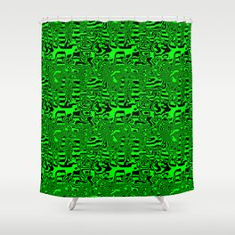 Green areas ... Shower Curtain
