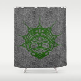 Grass Frog Smoke Shower Curtain