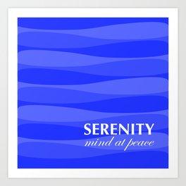 Blue for Serenity Art Print