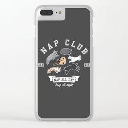 Nap Club Purr Clear iPhone Case