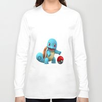 squirtle Long Sleeve T-shirts featuring Squirtle 2 by Yamilett Pimentel