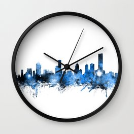 Melbourne Australia Skyline Wall Clock