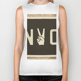 NYC Peace Sign (Color) Biker Tank