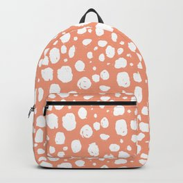 Painterly Dots in Peach and White Backpack