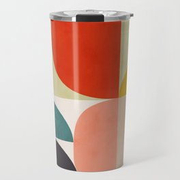 shapes of mid century geometry art Travel Mug