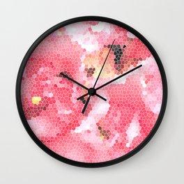 Flower Mosaic Millennial Pink Wall Clock