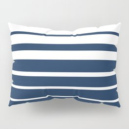 White blue striped pattern . Pillow Sham