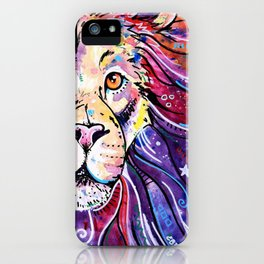 The Chief - Lion painting iPhone Case