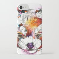 red panda iPhone & iPod Cases featuring Red Panda  by Abby Diamond