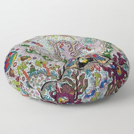 Transparent Volcano Fish Floor Pillow