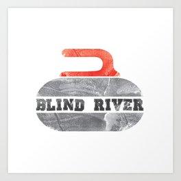 Blind River Curling Art Print
