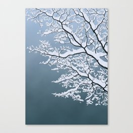 Clear sky - Winter's coming Canvas Print