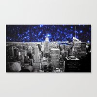 new york city Canvas Prints featuring new york city. Blue Stars by 2sweet4words Designs