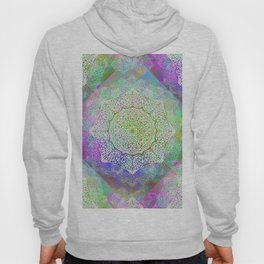 White Flower Mandala G406 Hoody