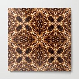 Abstract Geometric Light Factual Copper Metal Print