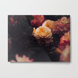 Bouquet Of Sunset Yellow orange Purple Flowers Metal Print