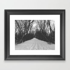 paths traveled Framed Art Print