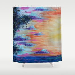 Cosmic expansion Shower Curtain