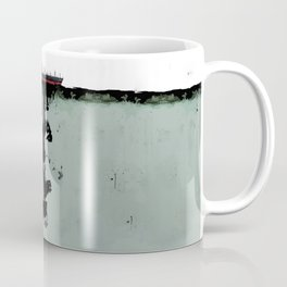 Ship boat oil spill sea Coffee Mug