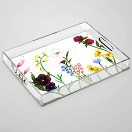 Wildflowers Acrylic Tray