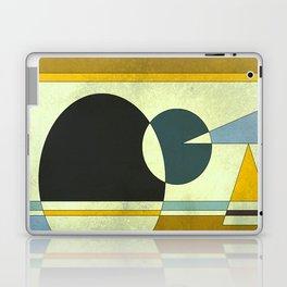 Sailing on the Sea, Geometric Gold and Blue Laptop & iPad Skin