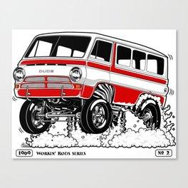 1969 GASSER VAN – Rev 2 RED Canvas Print