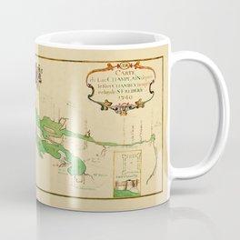 Map Of Lake Champlain 1740 Coffee Mug