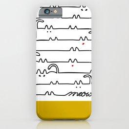 yellow meouw iPhone Case