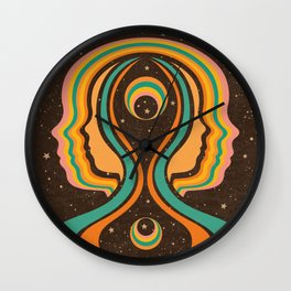 Look Within, Retro, Psychedelic, Mid Century Art Wall Clock