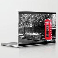 postcard Laptop & iPad Skins featuring London Postcard by Mar Tejeiro