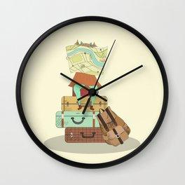 Travel girl Wall Clock