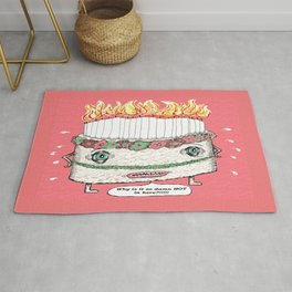 Why is it so damn HOT in here?!!! pink Rug