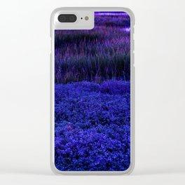Deep purple Clear iPhone Case