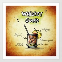 whiskey Art Prints featuring Whiskey Sour by jamfoto