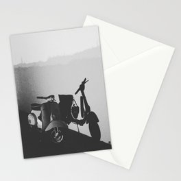 Bike with silhouette Stationery Cards
