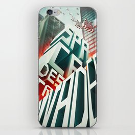 Invaders in the city iPhone Skin